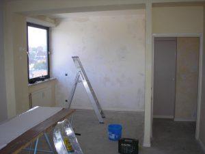 Creation d'une chambre dans un studio